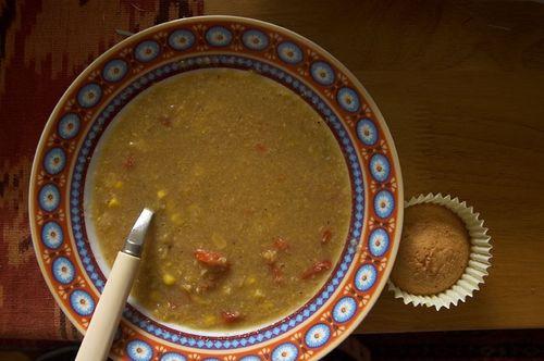 tomatillo & corn soup
