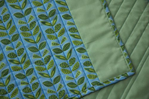 green leafy placemats detail