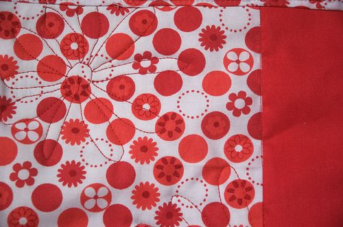 red placemat detail