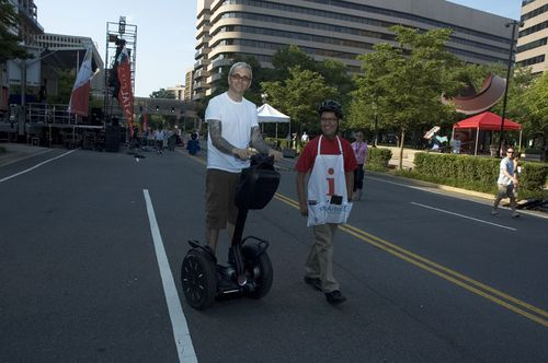 Art of Everclear on a Segway